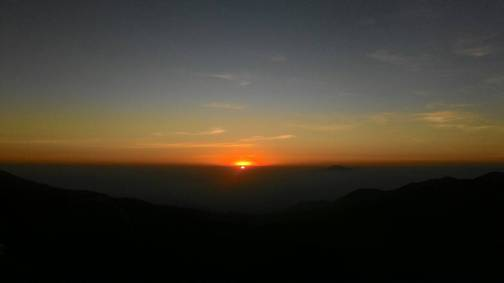 Golden Sunset At Dieng , Wonosobo.
